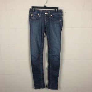 True Religion Women's Skinny Jeans Size 24 Blue P2